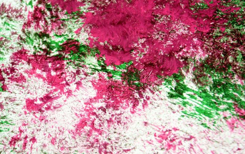 Escuro branco do rosa - fundo de pintura romântico verde da aquarela, fundo abstrato da aquarela da pintura fotografia de stock royalty free