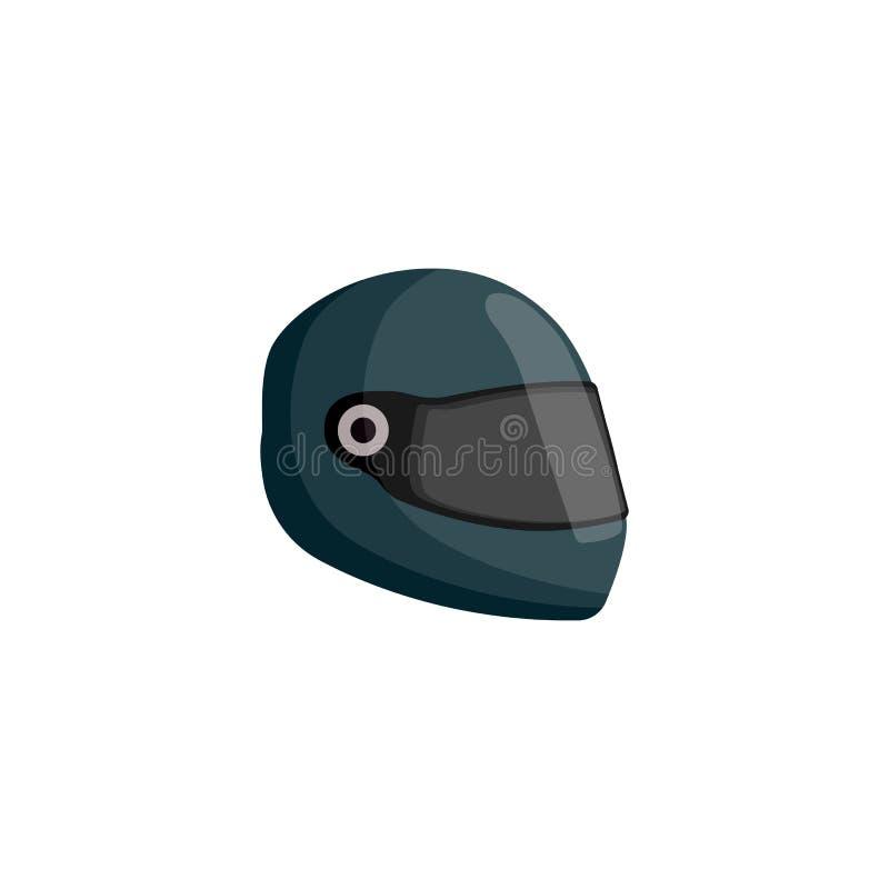 Escuro - capacete verde do piloto isolado no fundo branco ilustração royalty free