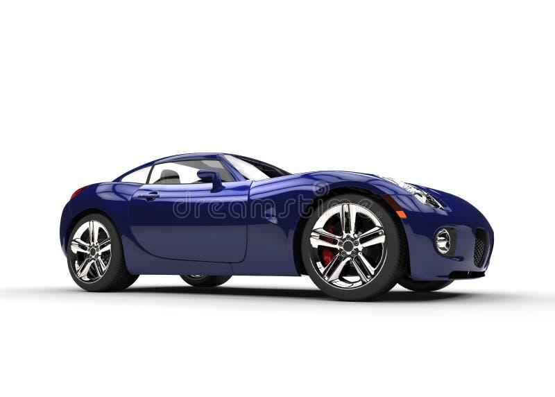 Escuro - carro à moda rápido azul ilustração royalty free
