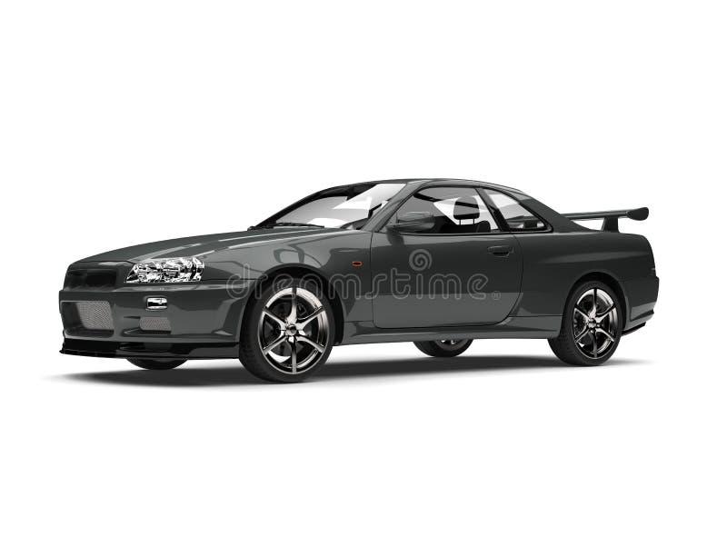 Escuro - carro de esportes urbano cinzento ilustração do vetor
