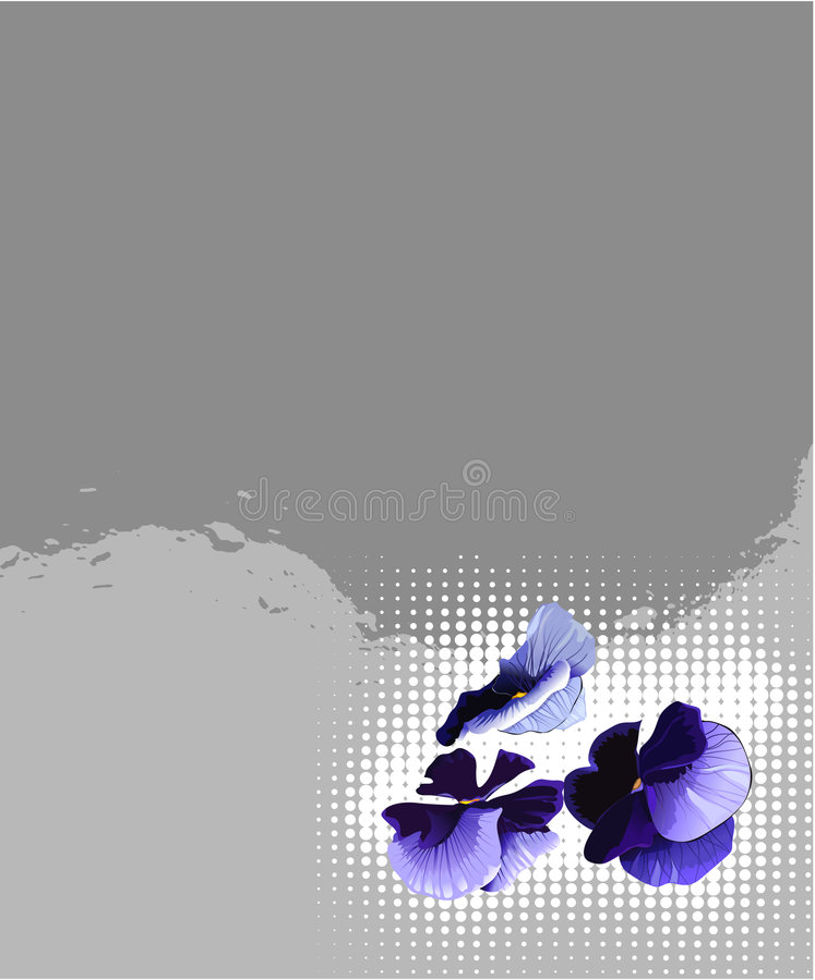 Escuro - flores azuis ilustração royalty free