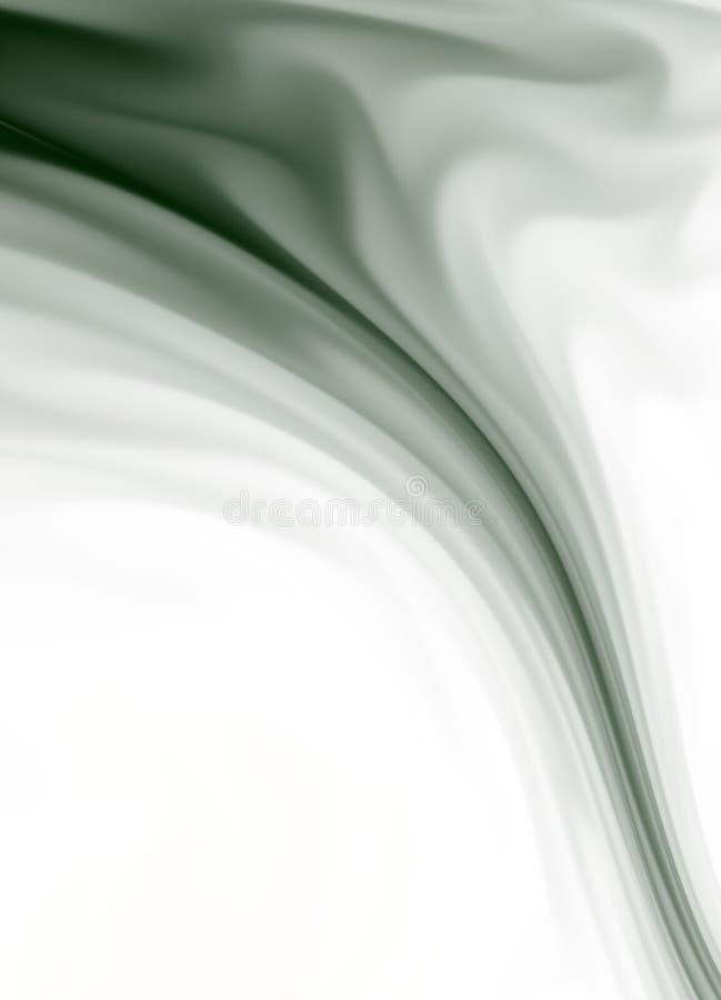 Escuro - fumo verde ilustração stock