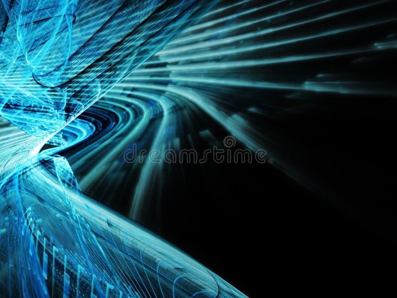 Escuro - fundo abstrato azul ilustração stock