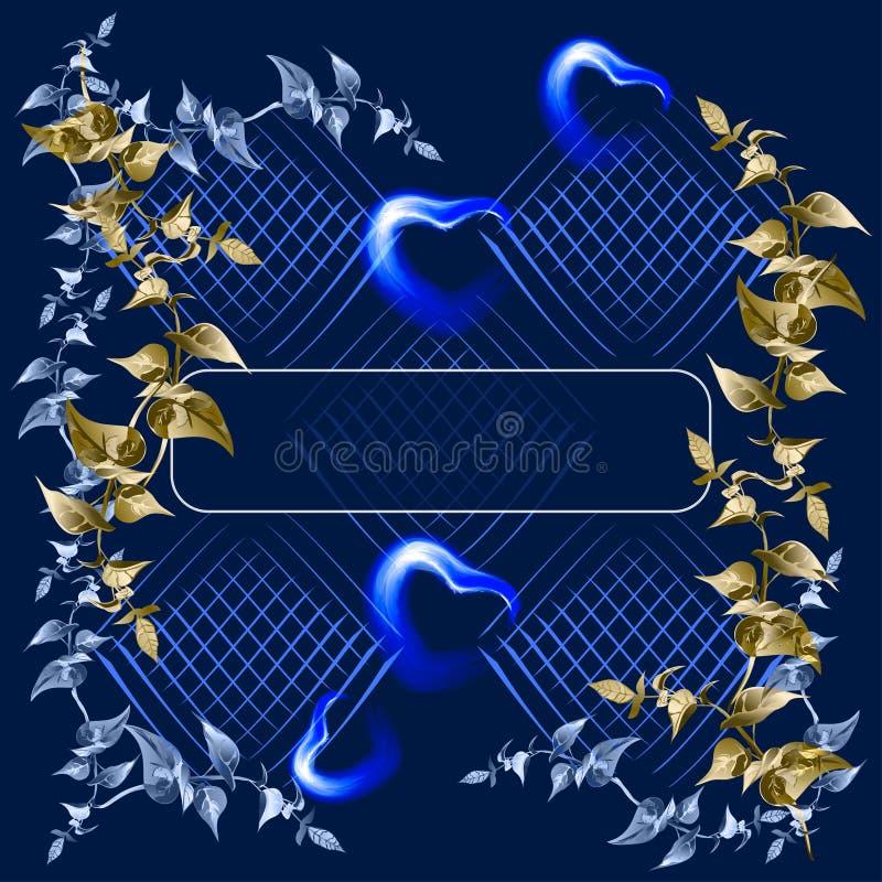 Escuro - fundo azul ilustração do vetor