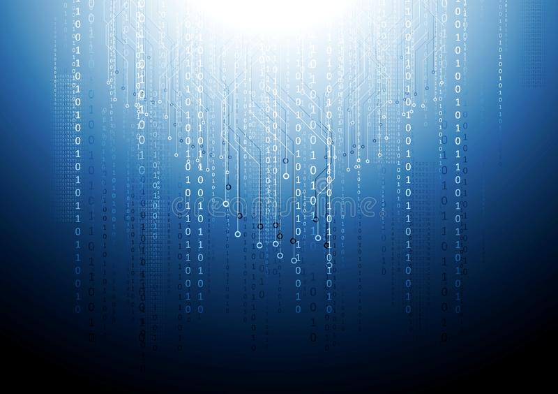 Escuro - fundo azul da tecnologia da placa de circuito ilustração do vetor