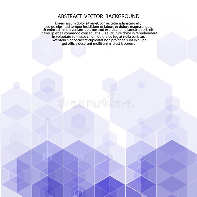 escuro - fundo azul dos hexágonos Estilo poligonal Ilustra??o do vetor Eps 10 ilustração do vetor