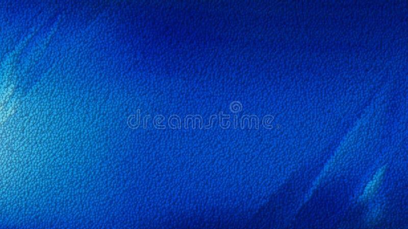 Escuro - fundo de couro azul ilustração do vetor