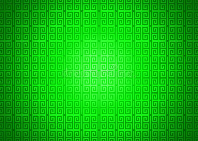 Escuro - fundo islâmico árabe chinês decorativo oriental verde da textura do teste padrão Imlek Ramadan Festival Wallpaper ilustração stock