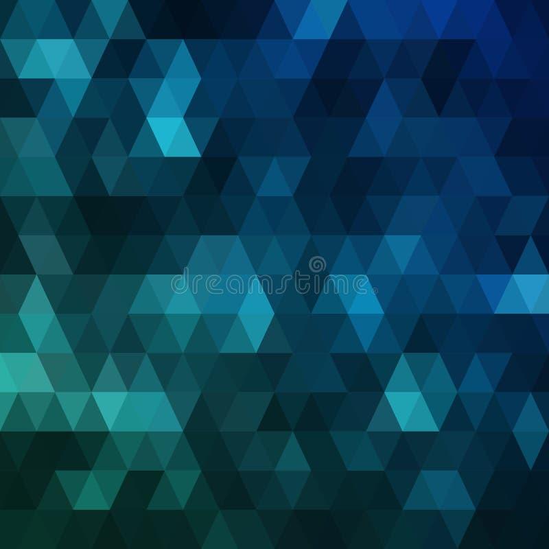 Escuro - fundo poligonal azul Ilustração abstrata colorida com inclinação O teste padrão textured pode ser usado para ilustração do vetor