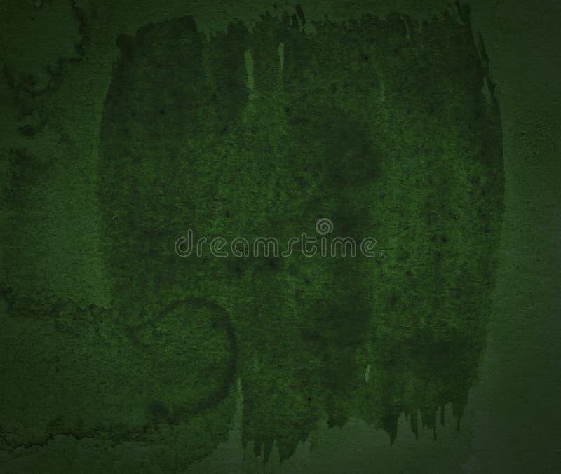 Escuro - fundo verde do sumário da aquarela, mancha, respingo da pintura, mancha, divórcio imagem de stock