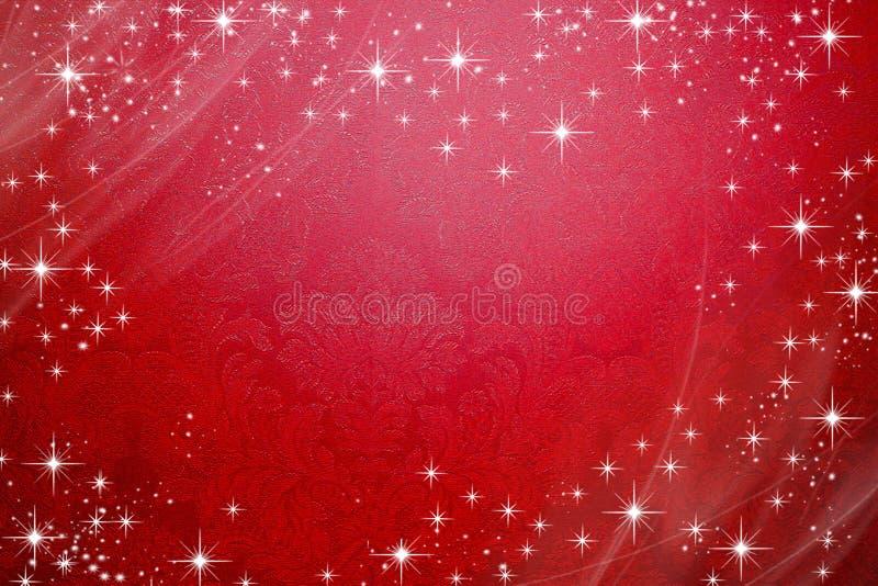 Escuro - fundo vermelho com projeto das lantejoulas foto de stock
