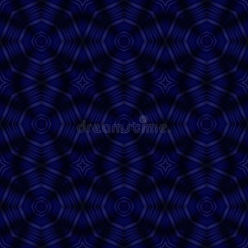 Escuro - ilustração azul do caleidoscópio ilustração stock