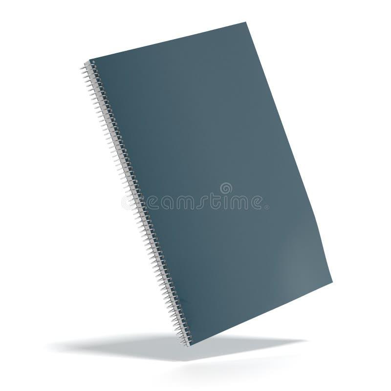 Escuro - livro de nota da tampa da cor verde ilustração stock