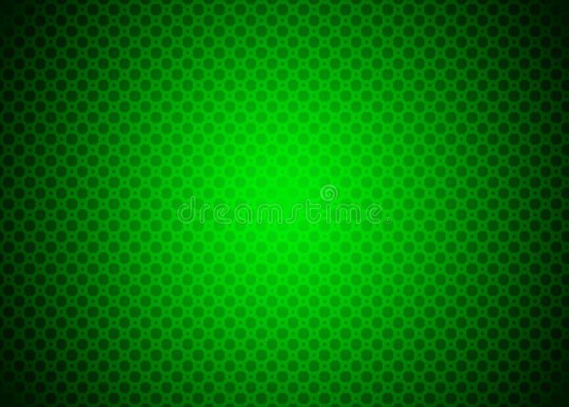 Escuro - papel de parede decorativo verde do fundo do teste padrão de Techno ilustração royalty free