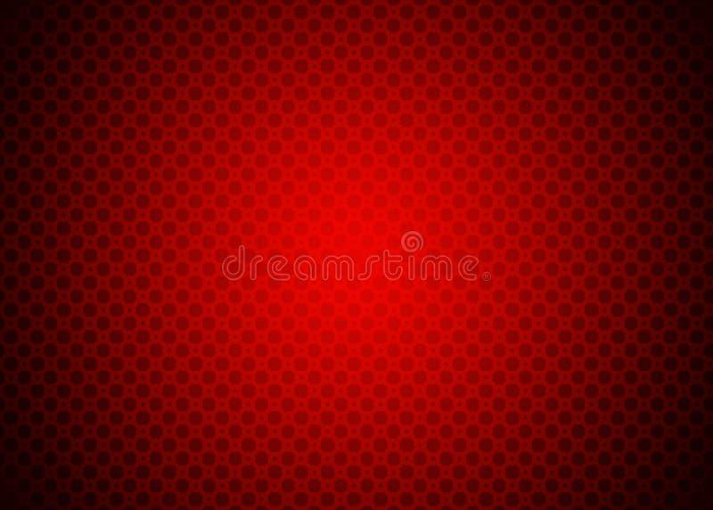 Escuro - papel de parede decorativo vermelho do fundo do teste padrão de Techno ilustração royalty free