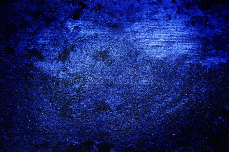 Escuro - parede azul do grunge foto de stock royalty free