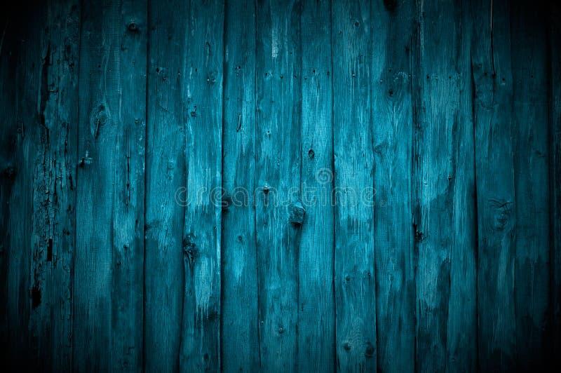 Escuro - parede de madeira azul fotografia de stock royalty free