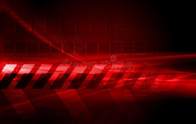 Escuro - projeto vermelho do vetor da olá!-tecnologia ilustração royalty free