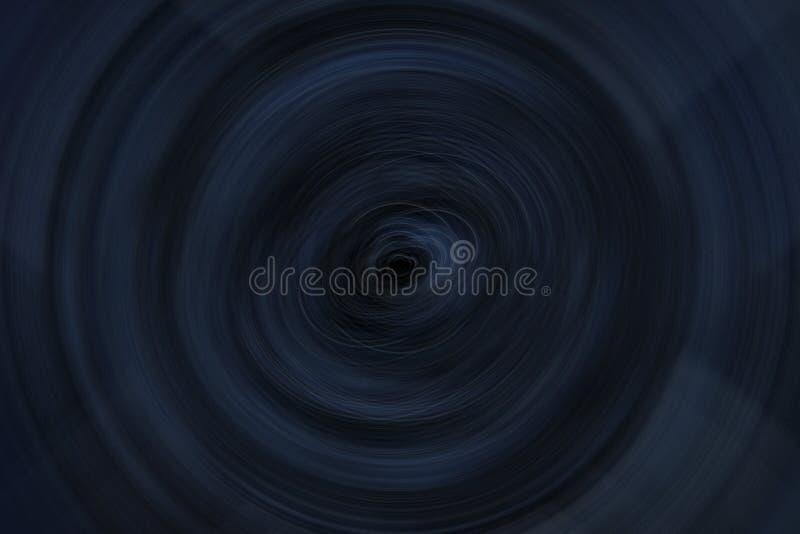 Escuro - redemoinho azul ilustração stock