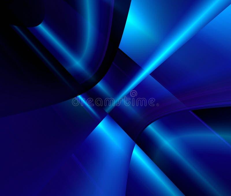 Escuro - sumário azul ilustração do vetor