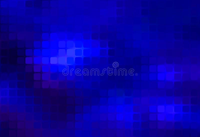 Escuro - sumário azul fundo arredondado do mosaico ilustração stock