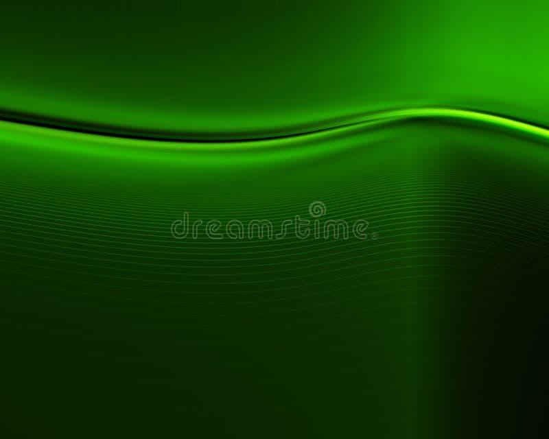 Escuro - sumário verde ilustração stock