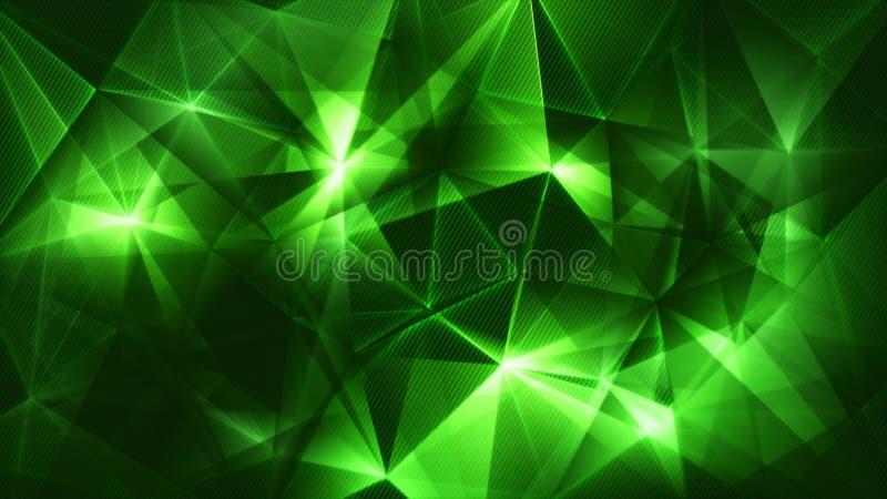 Escuro - sumário verde da rede dos triângulos ilustração royalty free