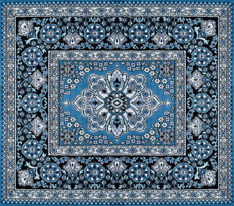Escuro Tapete Persa Azul Imagem De Stock Imagem De Luxo