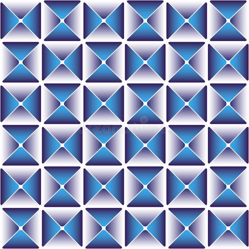 Escuro - teste padrão azul do drapery ilustração do vetor