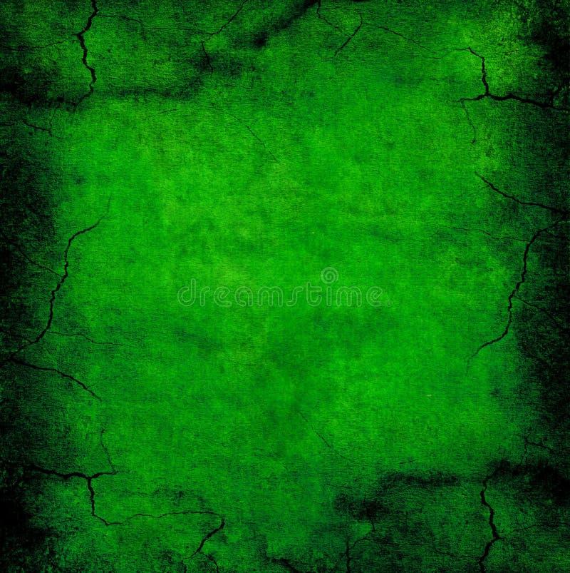 Escuro - textura verde do grunge Rachado e afligido ilustração stock