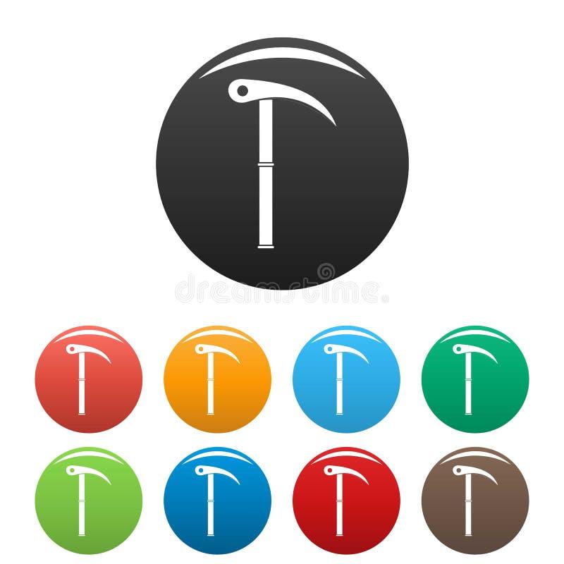 Escursione del colore stabilito delle icone dello strumento illustrazione vettoriale
