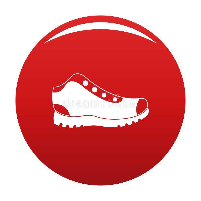 Escursione del rosso di vettore dell'icona degli stivali royalty illustrazione gratis