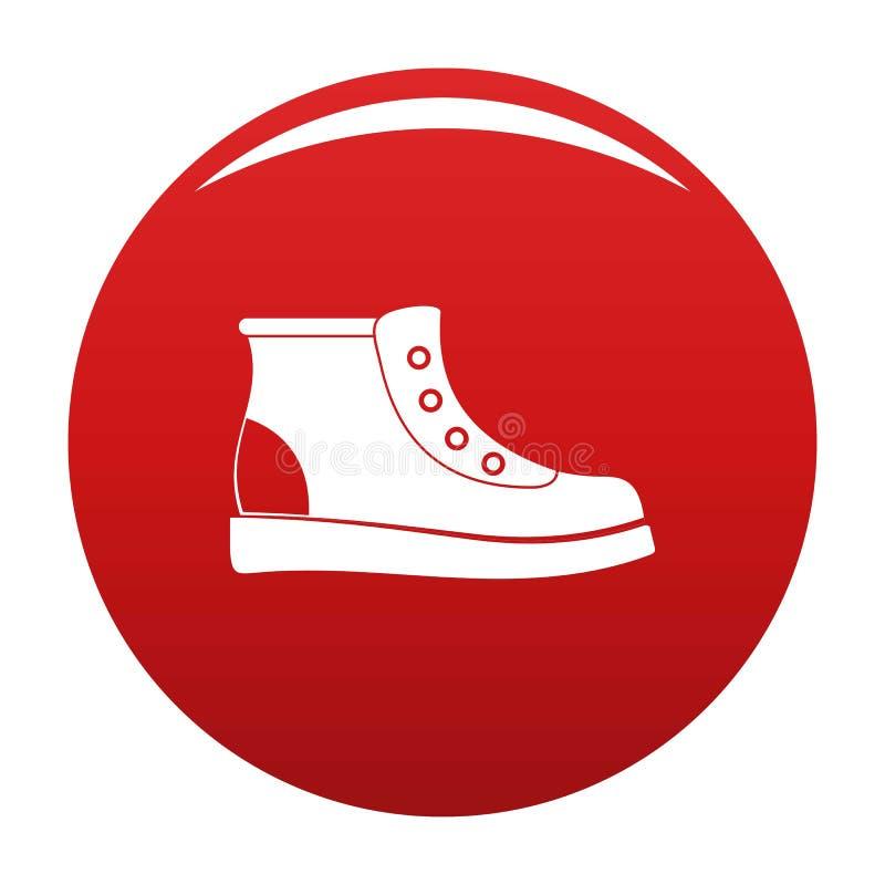 Escursione del rosso di vettore dell'icona degli stivali illustrazione vettoriale