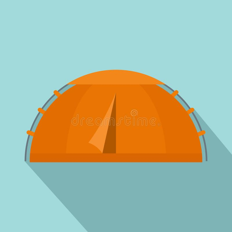 Escursione dell'icona della tenda, stile piano royalty illustrazione gratis