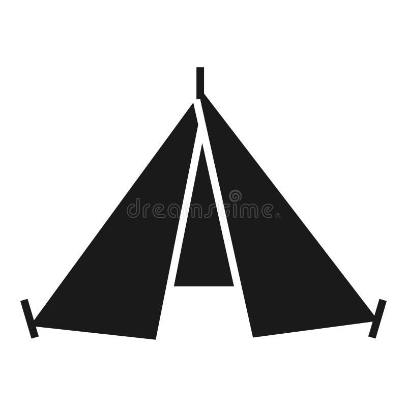 Escursione dell'icona della tenda, stile semplice royalty illustrazione gratis