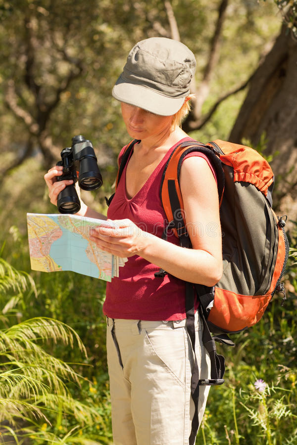 Escursione della donna fotografie stock