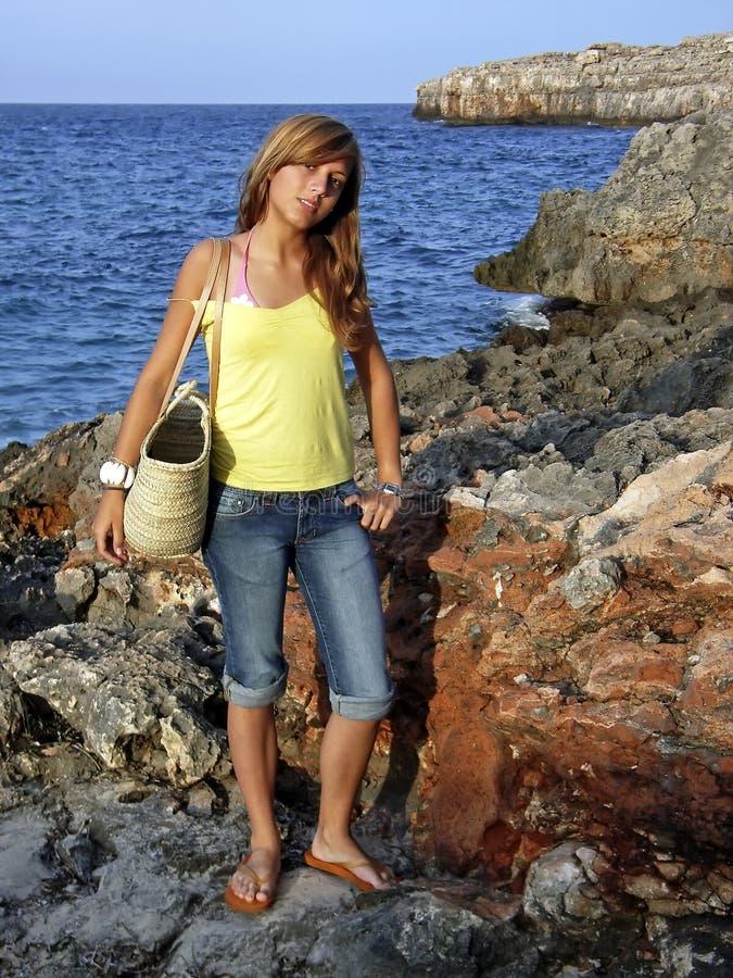 Escursione della spiaggia fotografie stock