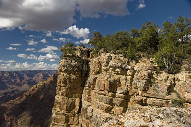 Escursione delle scogliere del canyon grande immagini stock