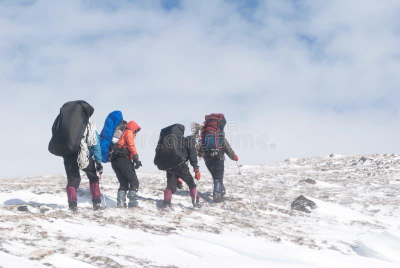 Escursione di inverno immagine stock