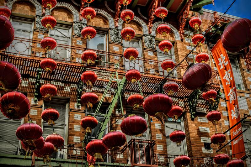 Escursione di un giorno a Chinatown in San Francisco California fotografie stock libere da diritti