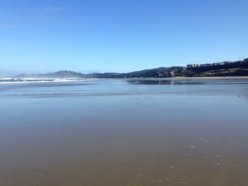 Escursione di un giorno della costa dell'Oregon della spiaggia di Newport fotografia stock
