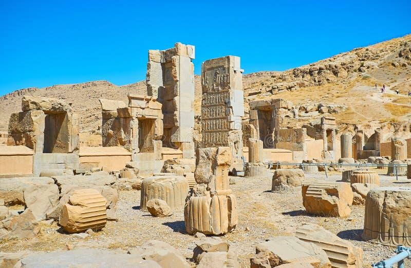 Escursione a Persepolis, Iran immagine stock libera da diritti