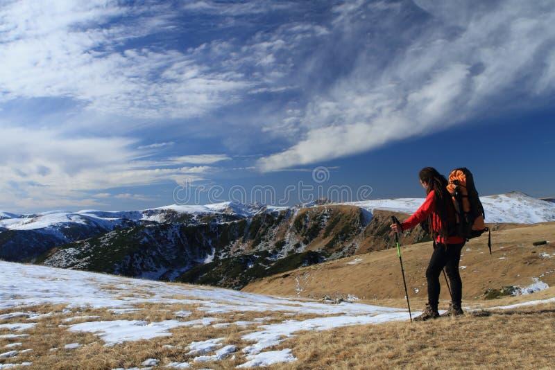 Escursione, trekking fotografie stock