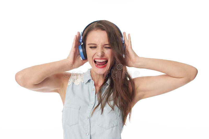 Escuta a boa música foto de stock royalty free