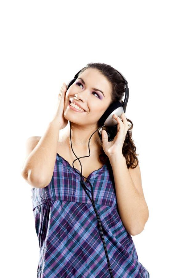 Download Escuta a música foto de stock. Imagem de headphones, forma - 12805722
