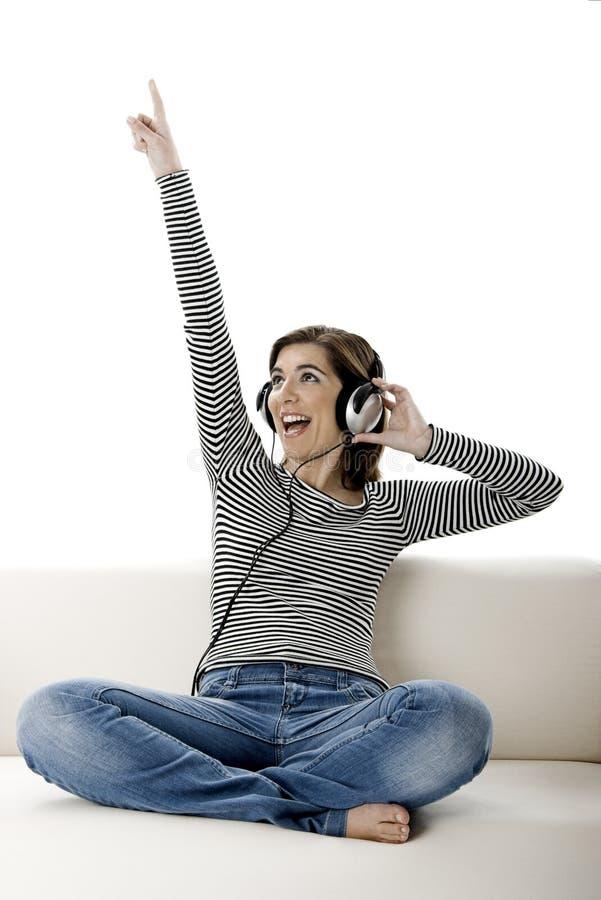 Escuta a música fotos de stock