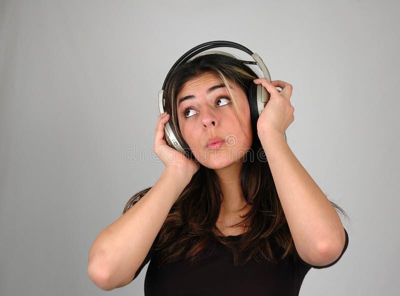 Escuta music-3 imagens de stock royalty free