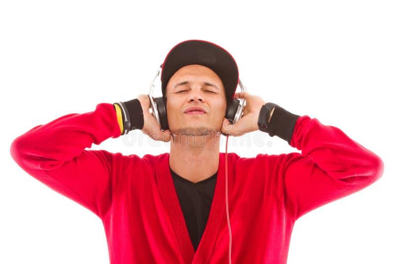 Escutando a música, senhor DJ foto de stock royalty free