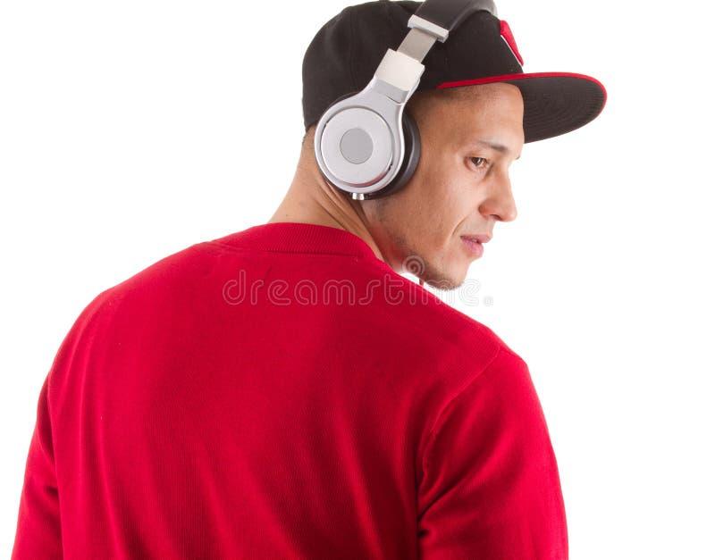 Escutando a música, senhor DJ fotos de stock