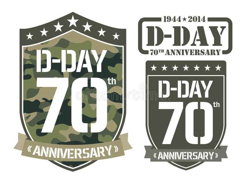 Escutcheon D-DAY Anniversary stock illustration